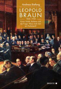 """Buchcover """"Leopold Braun (1868-1943). Kunst, Politik, Bohème und die Frage:Wozu malt man ein Parlament?"""" von Andreas Biefang"""
